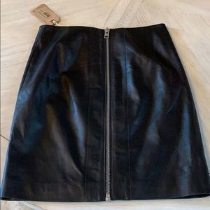 All Saints Leather Skirt